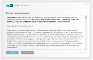 ESET Smart Security Installation Step 2